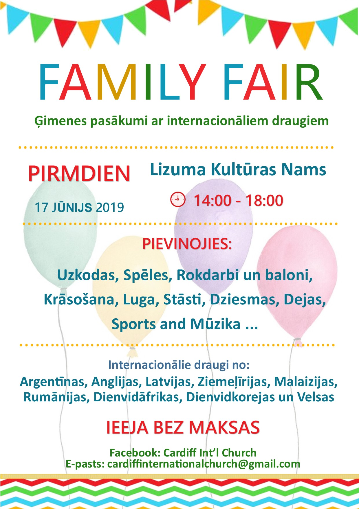 Poster Lizums june 2019 Latvian